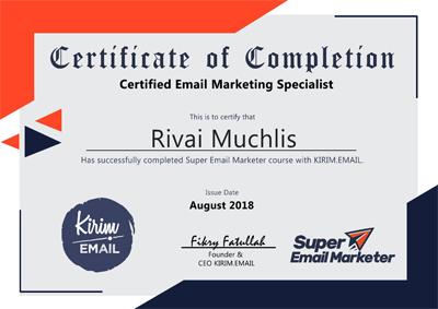 sertifikat email marketing